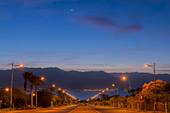 Local street running to the Red Sea, Eilat Royalty Free Stock Photos