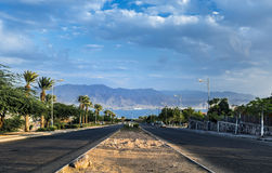 Local street running to the Red Sea Royalty Free Stock Images
