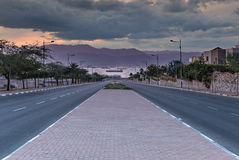 Local street running to the Red Sea Royalty Free Stock Photography