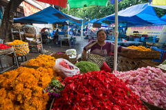 Local street vendor. Since the beginning of the XXI century the Bali's population increased by more than a million people Royalty Free Stock Photography