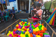 Local street vendor. Since the beginning of the XXI century the Bali's population increased by more than a million people Stock Photos