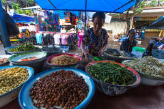 Local street vendor. Since the beginning of the XXI century the Bali's population increased by more than a million people Royalty Free Stock Image