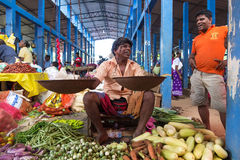 Local street vendor selling vegetables Royalty Free Stock Photography