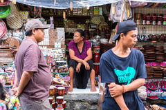 Local street vendors, souvenir. Royalty Free Stock Image