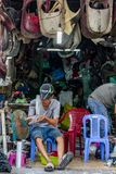 Local street workshop Vietnam Ho Chi Minh City royalty free stock image