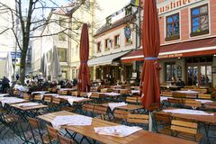 Local tavern in Munich Stock Images