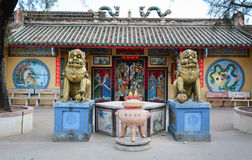 A local temple in Bac Lieu province, southern Vietnam.  Royalty Free Stock Photos
