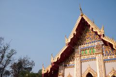 Local temple at north-eastern of Thailand Royalty Free Stock Photography