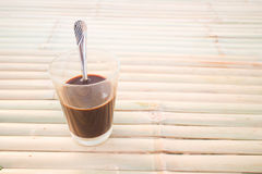 Local thai coffee on the table Stock Photo