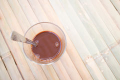 Local thai coffee on the table. Thai local hot coffee on wooden table Royalty Free Stock Images