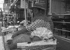 Local Thai 'Jack' fruit seller Royalty Free Stock Photo