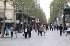 Local and tourisrs on the Avenue des Champs-ely Stock Photography