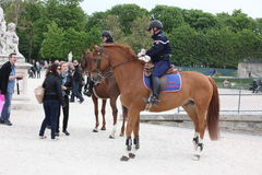 Local and Tourist in the famous Tuileries gard Stock Images