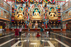 Namdroling Monastery in Bylakuppe, India. Stock Photo