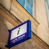 Local tours sign in Krakow, Poland, Europe. Royalty Free Stock Photography
