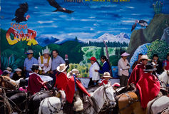 Local town festivities in Pintag, Pichincha Royalty Free Stock Image
