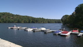 Local town marina (4 of 4) stock video footage