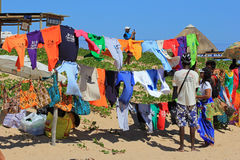 Local trade in Portuguese island, Mozambique Stock Images