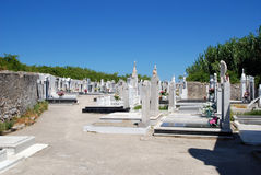Local traditional catholic cemetery on island Susak in Croatia Royalty Free Stock Photography