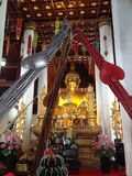 Local traditional in north of Thailand. Beautiful Buddha in the temple Stock Photography