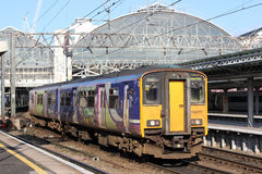 Local train arriving at Manchester Piccadilly Stock Photography