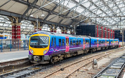 Local train at Liverpool Lime Street Train Station Stock Image