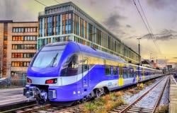 Local train at Munich Main Station Stock Photo