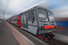 Local train in Russia Royalty Free Stock Photo