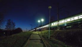Local  Train    in Russia stock image