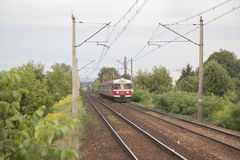 Local Trains in Krakow Royalty Free Stock Photography