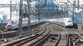 The local trains at Yamagata station. Stock Photos