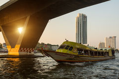 Local transport boat on Chao Phraya river Stock Images