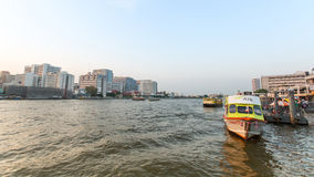 Local transport boat on Chao Phraya river. Royalty Free Stock Images
