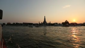 Local transport boat on Chao Phraya river in Bangkok, Thailand. Travel. stock video