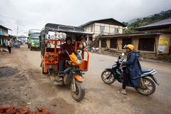 Local Transport in Chin State, Myanmar Royalty Free Stock Photography