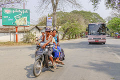 Local transportation in Myanmar Royalty Free Stock Image