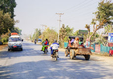 Local transportation in Myanmar Royalty Free Stock Images