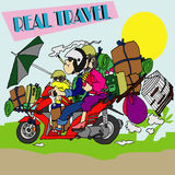 Local Travel Biker Royalty Free Stock Photo
