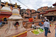 Local vegetables market in Nepal Stock Photos