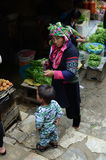 Local Vietnamese women in a market Royalty Free Stock Photo
