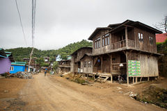 Local Village in Chin State, Myanmar Royalty Free Stock Image