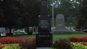Local War Memorial in Cambridge Downtown