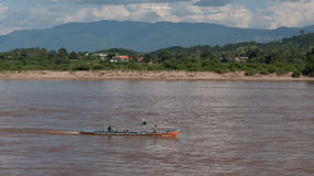 Local water transportation in Mea khong river Stock Image