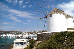 Local windmill in Mykonos (Greece) Stock Images