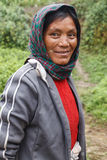 Local Woman in Chin State, Myanmar Royalty Free Stock Photos