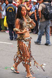 Local woman dancingperforming during Festival of the Virgin de l Royalty Free Stock Images