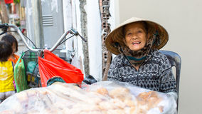 Local woman street vendor Royalty Free Stock Images