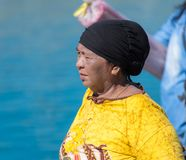Local woman of togean ethnicity Stock Images
