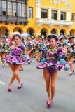 Local women dancing during Festival of the Virgin de la Candelar Royalty Free Stock Image