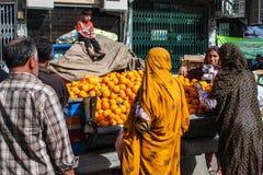 Local women at fruit market Stock Image